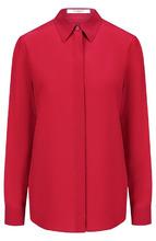 GIVENCHY | Однотонная шелковая блуза прямого кроя Givenchy | Clouty