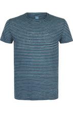 120% Lino | Льняная футболка в контрастную полоску 120% Lino | Clouty
