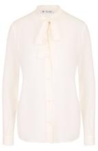 Loro Piana | Шелковая блуза с воротником аскот Loro Piana | Clouty