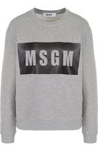 MSGM | Хлопковый свитшот свободного кроя с логотипом бренда MSGM | Clouty
