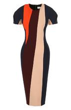 Victoria Beckham | Приталенное платье-миди с коротким рукавом Victoria Beckham | Clouty