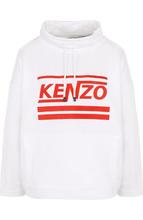 KENZO | Хлопковый свитшот с логотипом бренда и воротником-стойкой Kenzo | Clouty