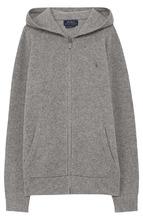POLO RALPH LAUREN | Кардиган из смеси шерсти и кашемира с капюшоном и на молнии Polo Ralph Lauren | Clouty