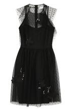 VALENTINO RED   Приталенное мини-платье без рукавов REDVALENTINO   Clouty
