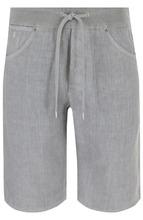 120% Lino | Льняные шорты с поясом на кулиске 120% Lino | Clouty