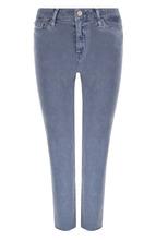 Paige | Укороченные джинсы прямого кроя с потертостями Paige | Clouty