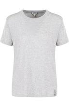 KENZO | Однотонная футболка прямого кроя с круглым вырезом Kenzo | Clouty