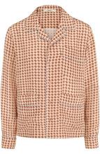 Bally   Шелковая блуза в пижамном стиле с принтом Bally   Clouty