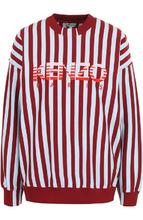 KENZO | Хлопковый свитшот в полоску с логотипом бренда Kenzo | Clouty