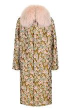 Bally   Пальто с цветочным принтом и отделкой из меха песца Bally   Clouty