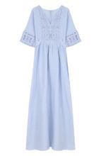 120% Lino | Приталенное хлопковое платье-миди 120% Lino | Clouty