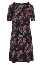 Escada | Приталенное мини-платье с цветочным принтом Escada | Clouty