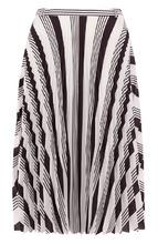 Balenciaga | Плиссированная юбка-миди с принтом Balenciaga | Clouty