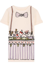 Stella McCartney | Хлопковое мини-платье прямого кроя с принтом Stella McCartney | Clouty