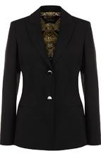 Versace | Однотонный приталенный жакет из шерсти Versace | Clouty