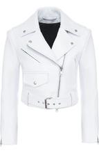 Calvin Klein | Укороченная кожаная куртка с косой молнией CALVIN KLEIN 205W39NYC | Clouty