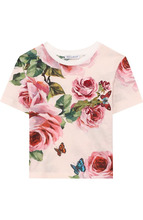 Dolce & Gabbana | Хлопковая футболка с принтом и аппликацией Dolce & Gabbana | Clouty