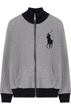 POLO RALPH LAUREN | Хлопковый кардиган на молнии с воротником-стойкой Polo Ralph Lauren | Clouty