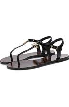 Dolce & Gabbana | Кожаные сандалии с логотипом бренда Dolce & Gabbana | Clouty