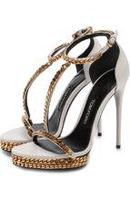 Tom Ford | Кожаные босоножки Chain на шпильке Tom Ford | Clouty