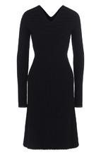 Victoria Beckham | Приталенное шерстяное платье с длинным рукавом Victoria Beckham | Clouty