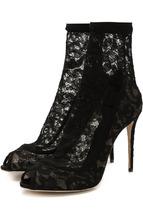 Dolce & Gabbana | Кружевные ботильоны Bette на шпильке Dolce & Gabbana | Clouty