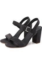 Loro Piana | Замшевые босоножки на устойчивом каблуке Loro Piana | Clouty
