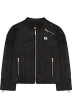 Armani Junior | Кожаная куртка с воротником-стойкой Armani Junior | Clouty