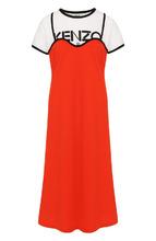 KENZO | Хлопковое платье-миди с круглым вырезом Kenzo | Clouty