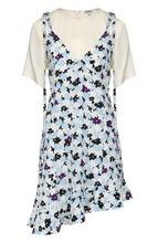 KENZO | Мини-платье асимметричного кроя с принтом Kenzo | Clouty