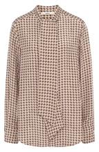 Bally   Шелковая блуза с логотипом бренда с воротником аскот Bally   Clouty