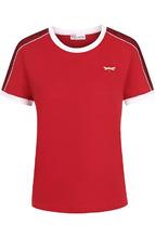 VALENTINO RED | Хлопковая футболка с круглым вырезом REDVALENTINO | Clouty