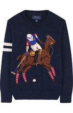 POLO RALPH LAUREN | Хлопковый пуловер с принтом Polo Ralph Lauren | Clouty