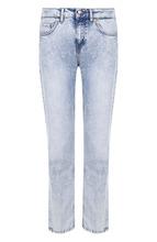 Escada Sport   Укороченные джинсы прямого кроя с потертостями Escada Sport   Clouty