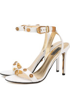 Versace | Кожаные босоножки Tribute на шпильке Versace | Clouty