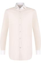 Kiton | Хлопковая сорочка с воротником кент Kiton | Clouty