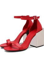 Vic Matiē | Кожаные босоножки на массивном каблуке Vic Matie | Clouty