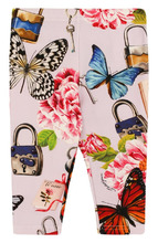 Dolce & Gabbana | Хлопковые леггинсы с принтом Dolce & Gabbana | Clouty