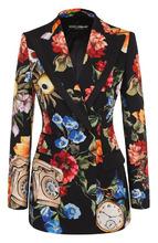 Dolce & Gabbana | Приталенный двубортный жакет с принтом Dolce & Gabbana | Clouty