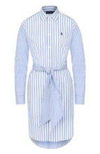 POLO RALPH LAUREN | Хлопковое платье-рубашка с поясом Polo Ralph Lauren | Clouty