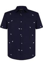 Emporio Armani | Рубашка из вискозы с короткими рукавами Emporio Armani | Clouty