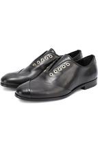 LANVIN | Кожаные ботинки с декором без шнуровки Lanvin | Clouty