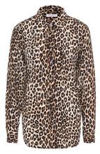 Equipment   Шелковая блуза прямого кроя с леопардовым принтом Equipment   Clouty