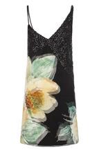 LANVIN | Шелковое платье с цветочным принтом и пайетками Lanvin | Clouty