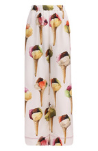 Dolce & Gabbana | Шелковые брюки прямого кроя с принтом Dolce & Gabbana | Clouty