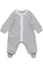 Il Gufo | Хлопковая пижама с принтом и отделкой из рюш Il Gufo | Clouty