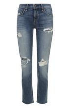 RAG & BONE | Укороченные джинсы с потертостями Rag&Bone | Clouty