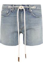 RAG & BONE | Джинсовые мини-шорты с контрастным поясом Rag&Bone | Clouty