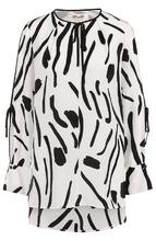 Diane Von Furstenberg | Шелковая блуза свободного кроя с принтом Diane Von Furstenberg | Clouty