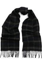 LANVIN | Шерстяной шарф в клетку с бахромой Lanvin | Clouty